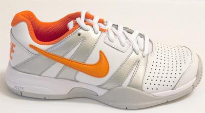 watch 3e896 43c37 Nike Kids Air Max Court Ballistec 2.1 Tennis Shoes - White Orange (Size 6)  - Tennisnuts.com