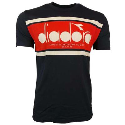 Diadora Mens BL Short Sleeve Tee - Navy/Red/White
