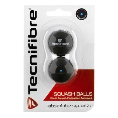 Tecnifibre Absolute Single Blue Squash Balls - Pack of 2 Balls