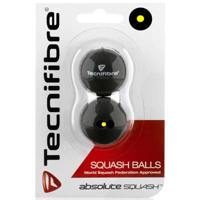 Tecnifibre Absolute Single Yellow Squash Balls - Pack of 2 Balls