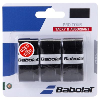 Babolat Pro Tour Overgrips (Pack of 3) - Black