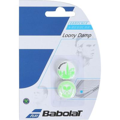 Babolat Loony Damp Wimbledon Vibration Dampener (Pack of 2) - White/Green