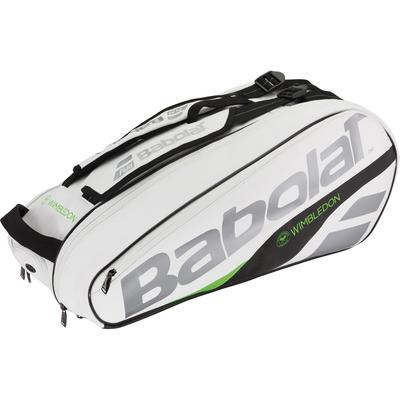 Babolat Pure 6 Racket Wimbledon Bag - White/Green