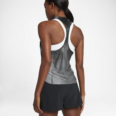 Nike Womens Dry Slam Tank Top - Metallic Platinum/Hot Punch