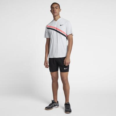 Nike Mens Zonal Cooling RF Advantage Top - White/Lava Glow