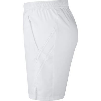 Nike Mens Dri-FIT 9 Inch Tennis Shorts - White
