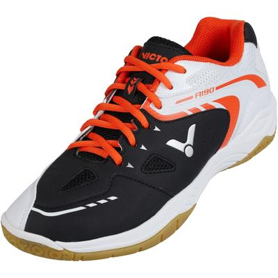 Victor Mens A190 Indoor Court Shoes - Black/White