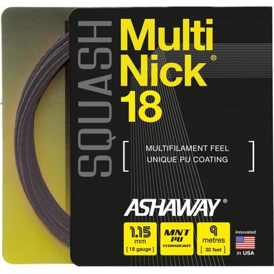 Ashaway MultiNick 18 Squash String Set - Black