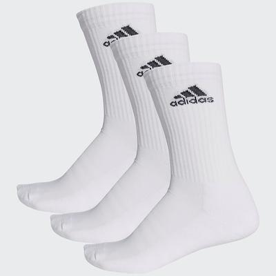 Adidas 3-Stripes Performance Crew Socks (3 Pairs) - White/Black