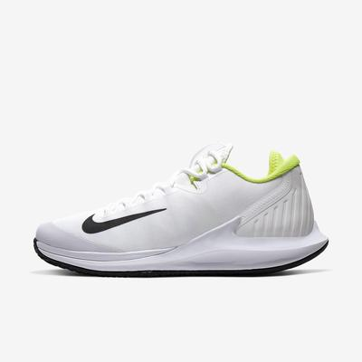 Nike Mens Air Zoom Zero Tennis Shoes - White/Volt
