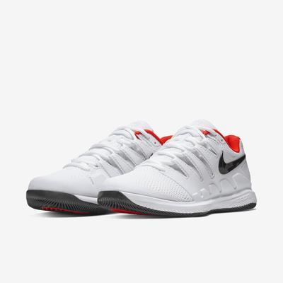 Nike Mens Air Zoom Vapor X Tennis Shoes - White/Bright Crimson/Black