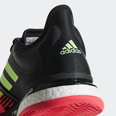 Adidas Mens SoleCourt Tennis Shoes - Black/Shock Red