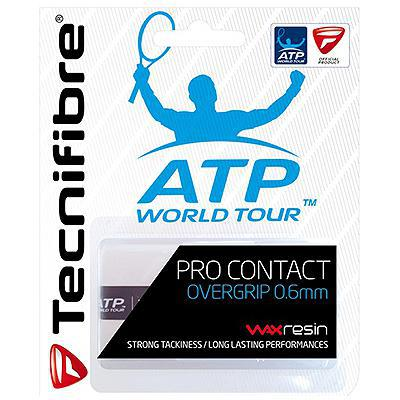 Tecnifibre ATP Pro Contact Overgrips (Pack of 3) - White