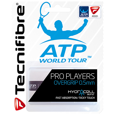 Tecnifibre ATP Pro Players Wrap (Pack of 3) - White