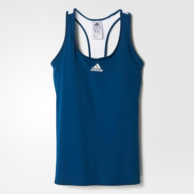 Adidas Womens Multifaceted Pro Tank Top - Tech Steel Blue/White