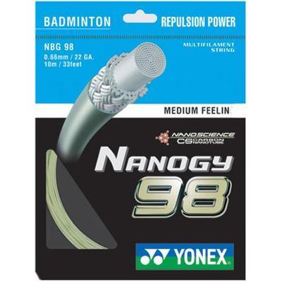 Yonex Nanogy 98 Badminton String Set - Gold - Tennisnuts.com