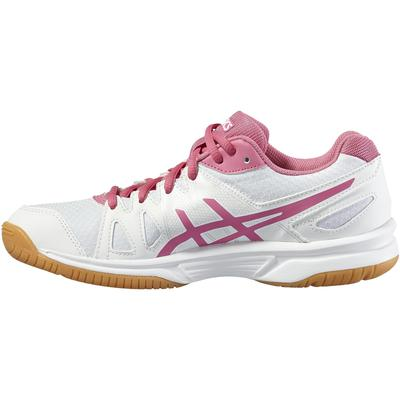 Asics Girls GEL-Upcourt GS Indoor Court Shoes - White/Azalea Pink