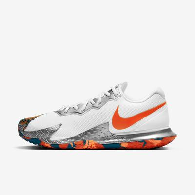 Nike Mens Air Zoom Vapor Cage 4 Tennis Shoes - White/Orange