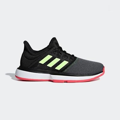 Adidas Kids SoleCourt XJ Tennis Shoes - Black
