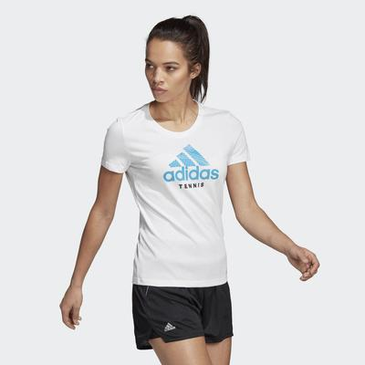 Adidas Womens Tennis Tee - White