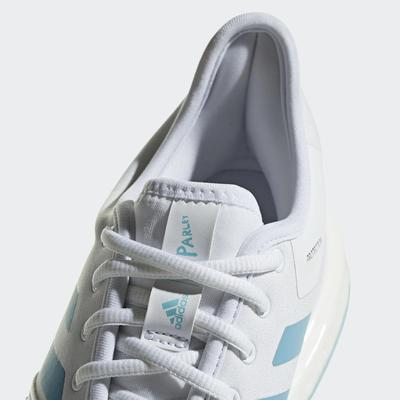 Adidas Mens SoleCourt Parley Tennis Shoes - White/Blue