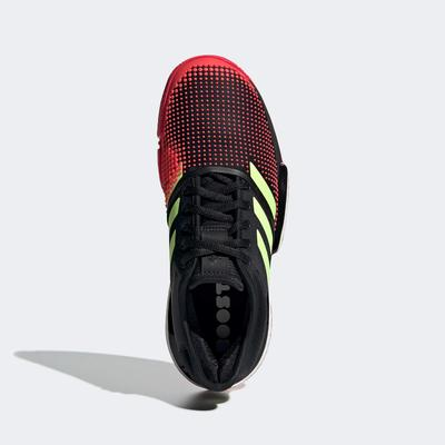 Adidas Womens SoleCourt Tennis Shoes - Black/Shock Red