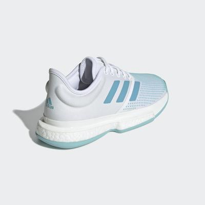 Adidas Womens SoleCourt Parley Tennis Shoes - Blue Spirit/White