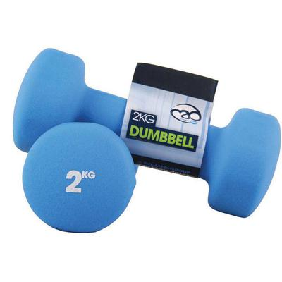 Fitness-Mad Neoprene Dumbbells 2kg - Blue