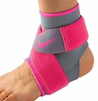 Nike Pro Compression Ankle Wrap 2.0 - Grey/Pink Pow
