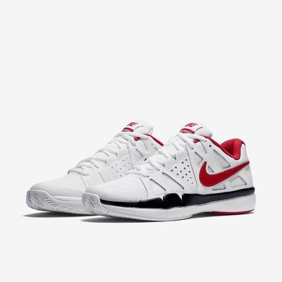 Men S Air Vapor Tennis Shoes White University Red