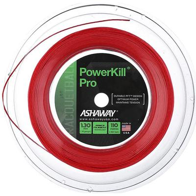 Ashaway Powerkill Pro 16 Racketball String 110m Reel - Red