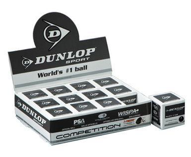 Dunlop Competition (Single Yellow Dot) Squash Balls - 1 Dozen