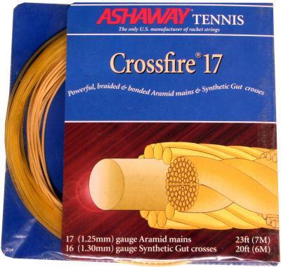 Gold Ashaway Crossfire Zyex 17G Tennis String