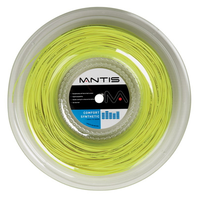 Mantis Comfort Synthetic 200m Tennis String Reel - Yellow