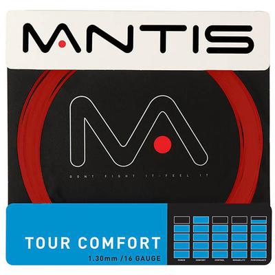 Mantis Tour Comfort 16 (1.30mm) Tennis String Set - Red