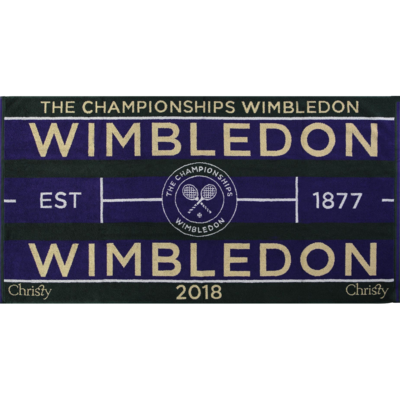Christy Wimbledon Championships Mens Towel 2018 - Purple/Green
