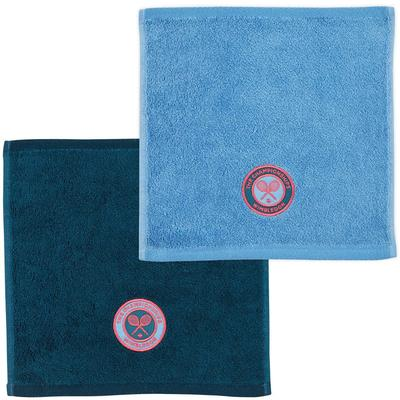 Christy Wimbledon Championships Face Cloths - Petrol/Cornflower Blue