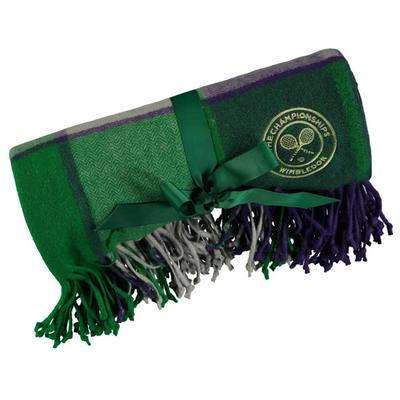 Christy Wimbledon Supersoft Throw - Purple/Green
