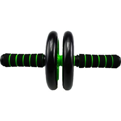 Urban Fitness Dual Wheeled Ab Roller - Black/Green