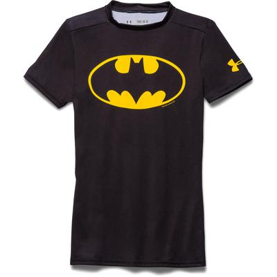 Under Armour Boys Batman Fitted Top - Black