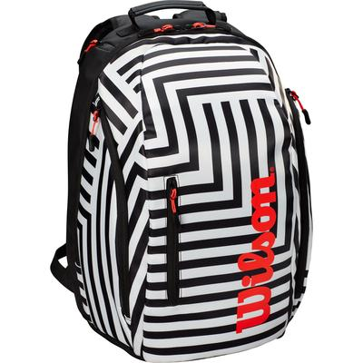 Wilson Super Tour Bold Edition Backpack - Black/White