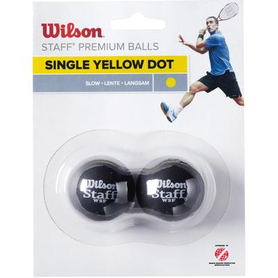 Wilson Staff Single Yellow Dot Squash Balls - Pack of 2