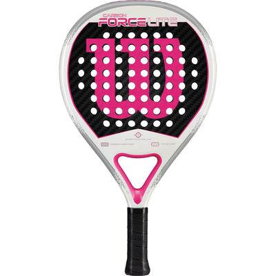 Wilson Carbon Force Lite Padel Racket - White/Pink