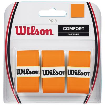 Wilson Pro Overgrips (Pack of 3) - Burn Orange