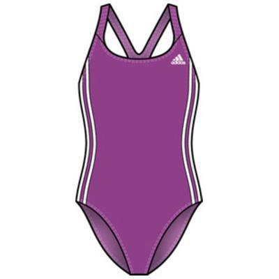 Adidas Girls Authentic One-Piece Swimsuit with Infinitex - Pink/White
