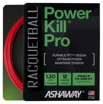 Ashaway Powerkill Pro 16 Racketball String Set - Red