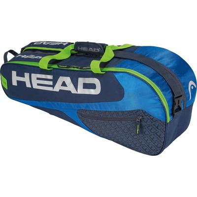 Head Elite Combi 6 Racket Bag - Blue/Green