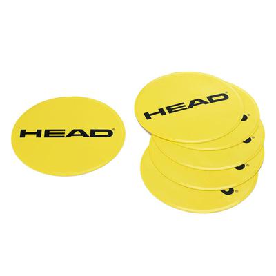 Head Round Spot Targets (Pack of 6) - Yellow