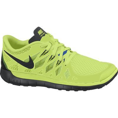 f2804619e858 Nike Boys Free 5.0+ Running Shoes - Volt Black Electric Green ...