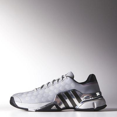 Adidas Mens Barricade 2015 Tennis Shoes Grey Iron Silver